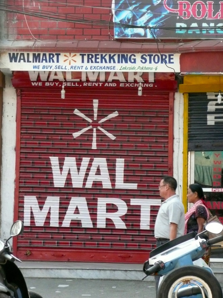 Bet you didn't know Walmart had expanded into the trekking equipment business in Nepal.